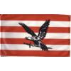 Árpádsávos fekete turulos zászló 40x30 cm, 60 cm-es farúddal