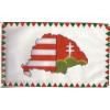 Farkasfogas osztott Nagy-Magyarországos zászló Rúd nélkül 40x60 cm
