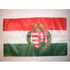 Nemzeti színű koszorús címeres zászló Rúd nélkül 40x60 cm