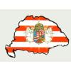 Árpádsávos angyalos hűtőmágnes Nagy-Magyarország körvonallal 14x8,5 cm