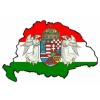 Zászló alapú angyalos fehér négyszögletes matrica (9x7 cm)