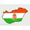 Öntapadó autós papír matrica, címeres Magyarországos 14x8,5 cm
