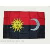 Székely harci zászló, hurkolt poliészter, nyomott mintás kültéri zászló. 60x90 cm