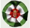 Eredeti kerek címeres kokárda (9 cm), 25 mm jelvénnyel ajándéktárgy