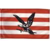 Árpádsávos fekete turulos zászló 60x90 cm dekoráció