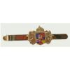 Angyalkás nyakkendő csipesz közép címerrel, arany színű