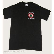 Hímzett kokárdás fekete póló S