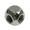 Bitspower L-Adapter 2 x G1/4 - fényes ezüst