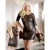 -- Fényesen áttetsző miniruha - fekete