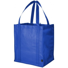 . Bevásárlótáska, nem szőtt, 38,1x33x25,4 cm, kék