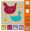 D Jeco Djeco des. - Farm animals stencils
