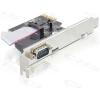 DELOCK PCI-e Bővítőkártya 1x Soros port + Low Profile