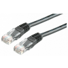 ROLINE UTP CAT5e 1m (fekete) kábel