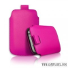 CELLECT Galaxy S4 méretű slim bőr tok, Pink