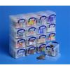 REALLY USEFUL Műanyag tárolódoboz, átlátszó, aprócikkek számára, 16x0,14 liter, REALLY USEFUL