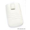 CELLECT Dreim L-es méretű tépőzáras slim bőr tok,Fehér