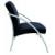 ALBA Ügyfélváró szék, fém és szövet, ALBA