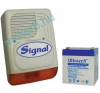 Kültérik akkumulátorral SIGNAL PS-128A + 4Ah akkumulátor riasztóberendezés