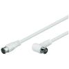 Goobay Antenna hosszabító kábel F/egyenes gyorscsatlakozóval, 2,5 m, goobay