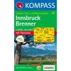 WK 36 - Innsbruck - Brenner turistatérkép - KOMPASS
