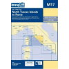 North Tuscan Islands to Rome Chart M17 - Imray