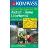 WK 122 - Aletsch - Goms - Lötschental turistatérkép - KOMPASS