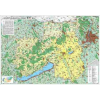 Közép-Dunántúl régió falitérkép - Stiefel