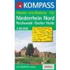 WK 752 - Niederrhein Nord, Reichswald turistatérkép - KOMPASS