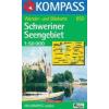 WK 850 - Schweriner Seengebiet turistatérkép - KOMPASS