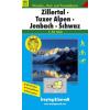 Zillertal-Tuxer Alpen-Jenbach-Schwaz turistatérkép - f&b WK 151