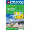 WK 735 - Rostock-Warnemünde-Bad Doberan turistatérkép - KOMPASS