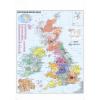 Nagy-Britannia postai irányítószámai falitérkép - Stiefel
