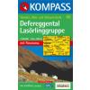 WK 45 - Defereggental - Lasörlinggruppe turistatérkép - KOMPASS