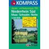 WK 755 - Niederrhein Süd, Maas, Schwalm turistatérkép - KOMPASS