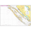 Dugi Otok - Zadar hajózási térkép - Naval-Adria 100-20