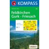 WK 214 - Feldkirchen-Gurk-Friesach turistatérkép - KOMPASS