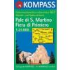 WK 622 - Pale di San Martino - Fiera di Primiero turistatérkép - KOMPASS