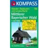 WK 196 - Mittlerer Bayerischer Wald turistatérkép - KOMPASS