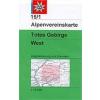 Totes Gebirge, West turistatérkép - Alpenvereinskarte 15/1
