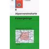 Kaisergebirge turistatérkép - Alpenvereinskarte 8