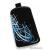 DREIM iPhone méretű textil tok,Fekete,kék minta