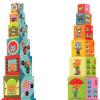 DJECO Toronyépítő kocka - állatok, autók