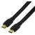 HDMI lapos kábel ethernettel 0.75 m