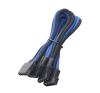 Bitfenix Molex > 3x Molex elosztó 55cm fek/kék/fek hosszabbító, elosztó