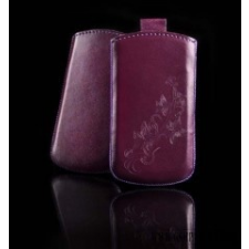 CELLECT Sony Xperia E méretű slim virágos bőr tok,Lila tablet tok