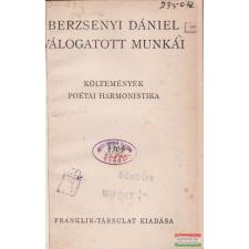 Berzsenyi Dániel válogatott munkái irodalom
