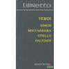 Verdi - Simon Boccanegra / Otello / Falstaff