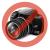 VIVA Galaxy S4 hívás mutató flip cover tok,Fehér