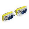DELOCK Adapter Gender Changer Sub-D9 male / male 65009