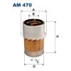 Filtron levegőszűrő AM470 1db